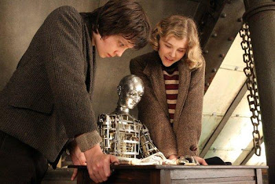 asa butterfield, isabelle, automaton draws george melies drawing