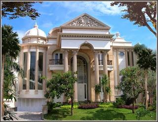 konsep rumah mewah mediterania