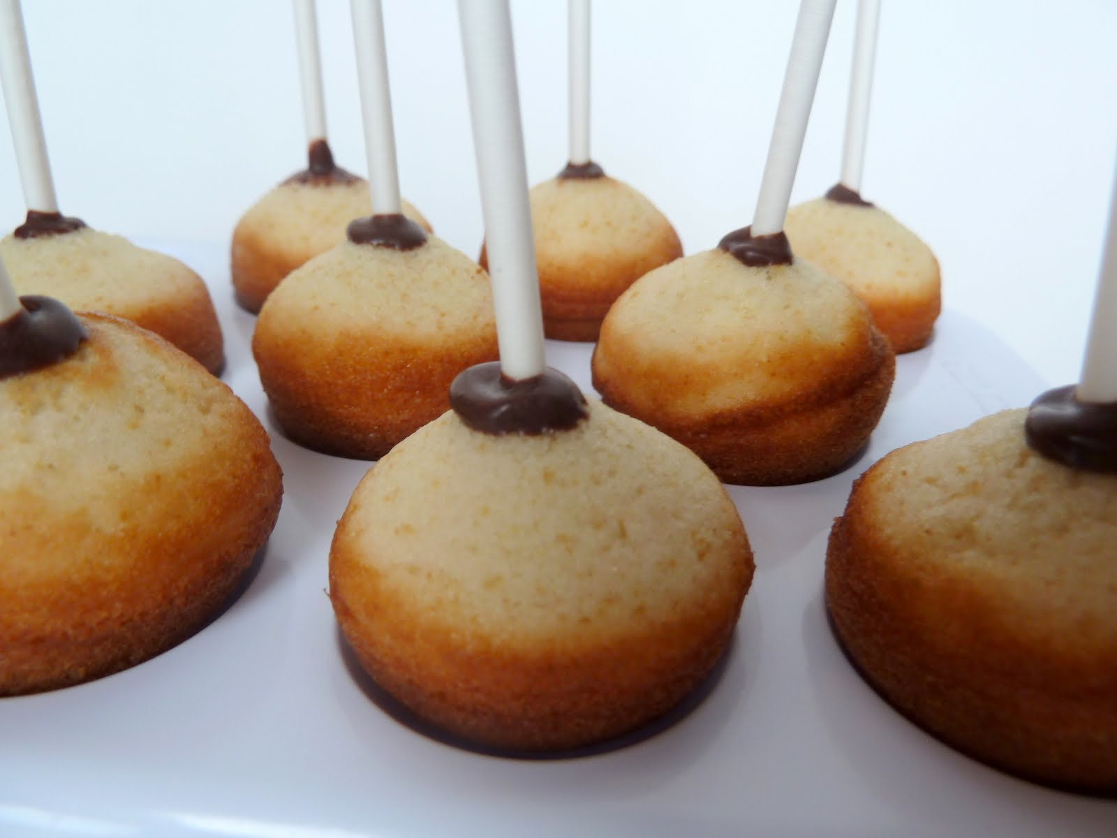 Cake Balls Dipped In Chocolate Chips