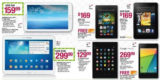 OfficeMax Black Friday 2013 Tablet Deals and Discounts