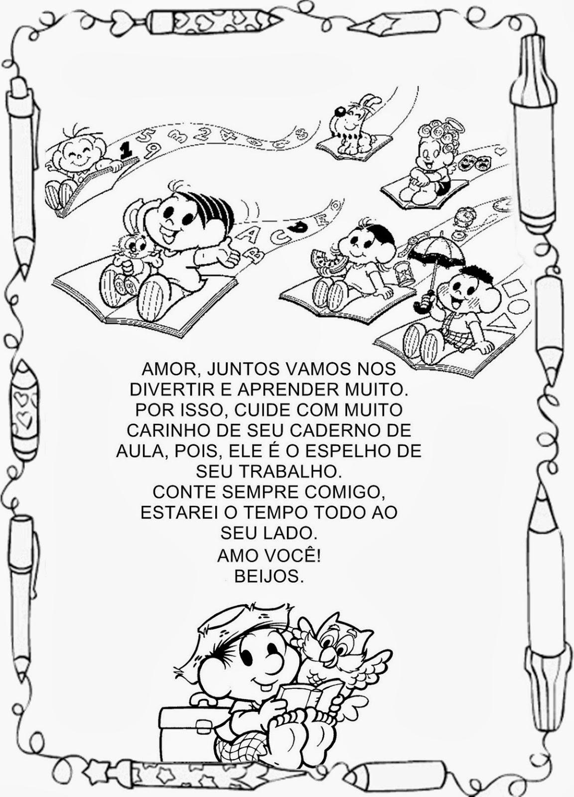 Excepcional Pequenos Grandes Pensantes.: Capas de Caderno para Educação Infantil TR24