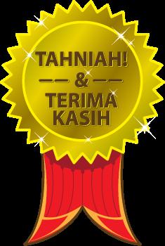 Pemenang Mini Giveaway Raya Anak Soleh Solehah!