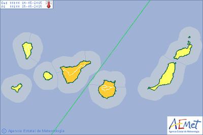 alerta naranja por calor Gran Canaria Tenerife, 14 mayo