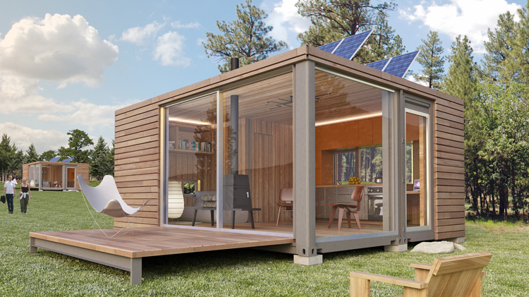 Small scale homes container homes by meka world for Village craft container home