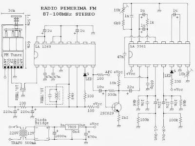 SKEMA RADIO TUNER FM STEREO IC LA1260