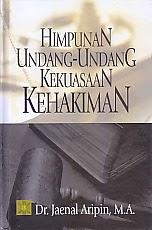 toko buku rahma: buku himpunan UU kekuasaan kehakiman, pengarang jaenal aripin, penerbit kencana