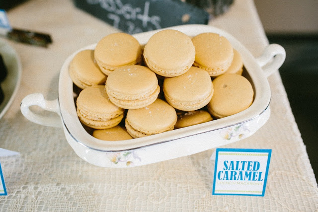 Rustic Macarons for Minnesota Wedding