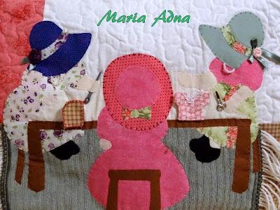 Capa para máquina de costura, Patchwork, Apliquê, Quilt, Maria Adna Ateliê