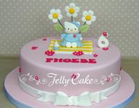 cara buat kue ulang tahun hello kitty