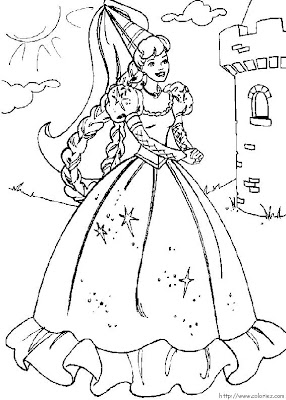 Barbie Coloring Pages Kids