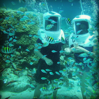 Helmet diving at Cebu