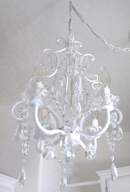 here it is with the swag - Shabby Chic Chandelier