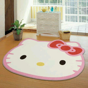 Karpet kepala hello kitty