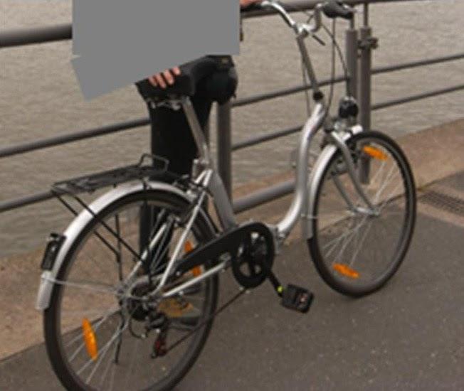 fahrrad fahndung svenny klapprad silbernes 24. Black Bedroom Furniture Sets. Home Design Ideas