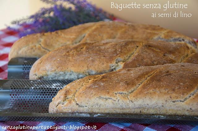 baguette senza glutine ai semi di lino di marco scaglione