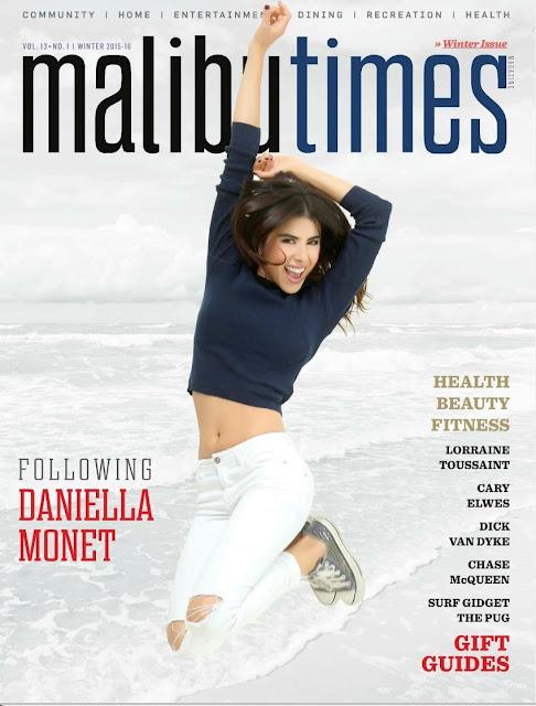 Actress, Singer, @ Daniella Monet - Malibu Times magazine, Winter 2015