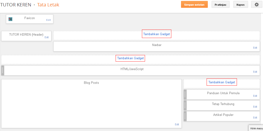 blogger,gadget,widget,blog,tata letak,menambahkan widget ke blog,menambahkan widget