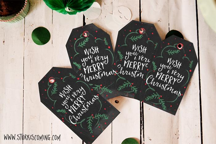 free printable chalkboard effect christmas gift tags