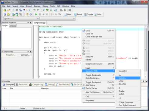 Free C Compiler Wxdev C 7 3 1 3 Portable Version