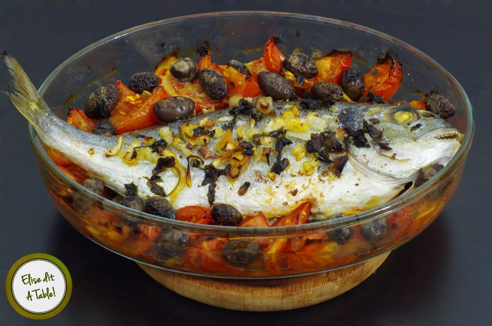 Recette dorade au four aux olives