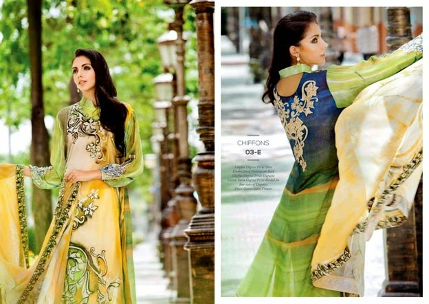Resham Ghar Chiffon Collection 2014