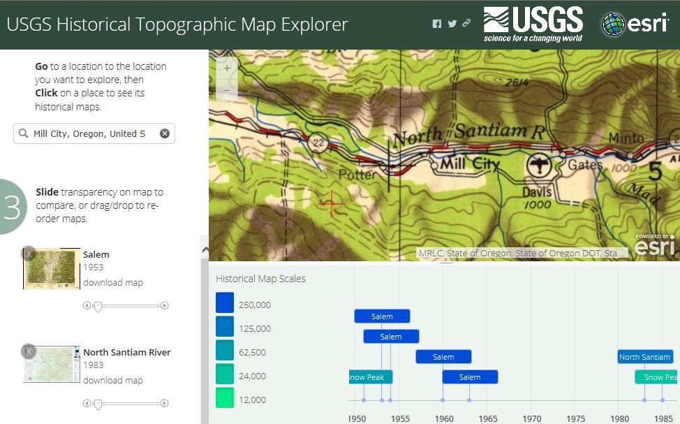 USGS Historical Topographic Map Explorer image