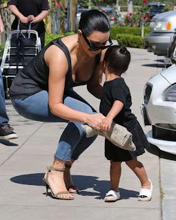 Kim Kardashian With Her Daughter Wallpapers