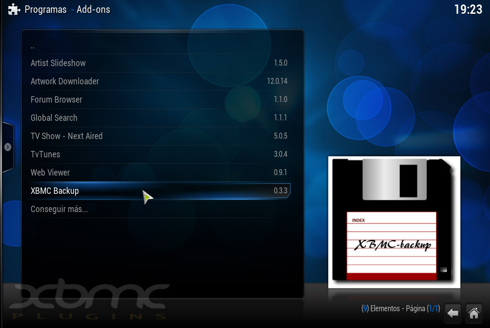 Realiza Copias de Seguridad con XBMC BACKUP