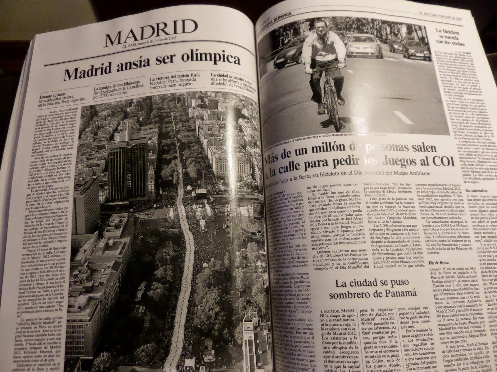 Mabel Gálaz en En qué estaría yo pensando, errores de periodistas de El País, Madrid quiere ser olímpica