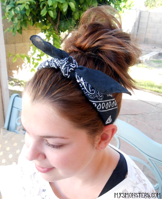 Super Easy Bandana Headband at my3monsters.com