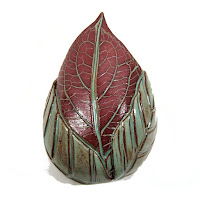 Earthenware Leaf Wall Pocket