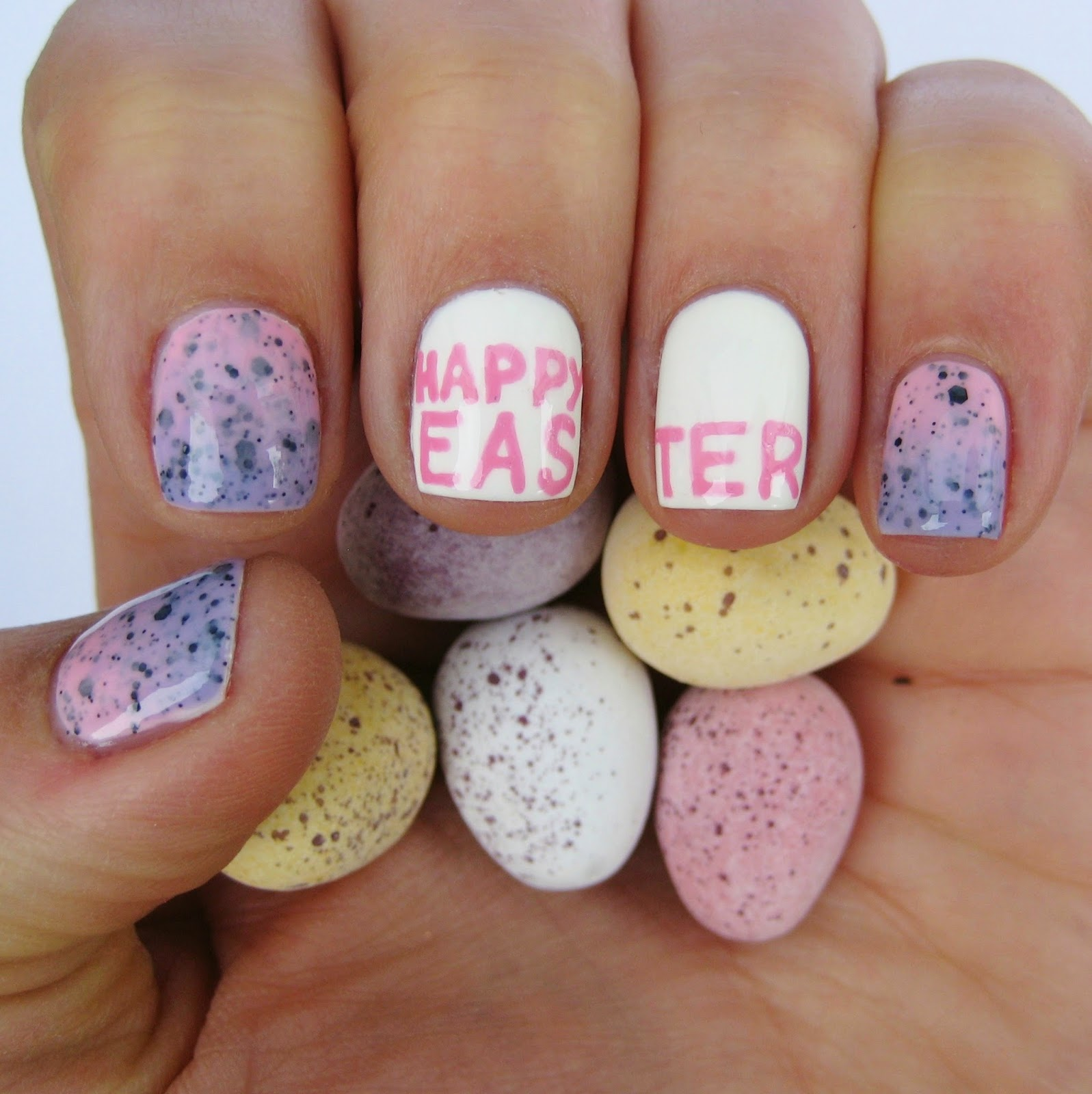 Dahlia nails happy easter easter nail art emma created an awesome easter mani earlier in the week for beauty at tesco and a whole wheel of ideas last year prinsesfo Choice Image