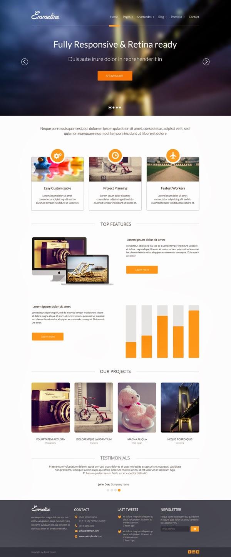 website PSD Template Free