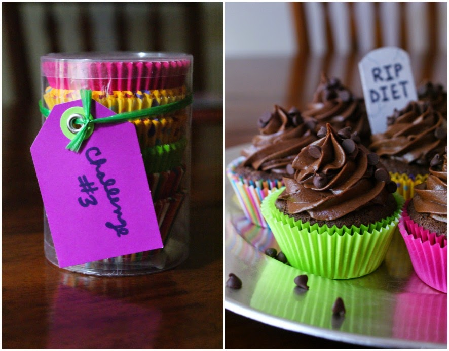 Pretty cupcake liners for rich Chocolate Cupcakes with Chocolate Cream Cheese Frosting