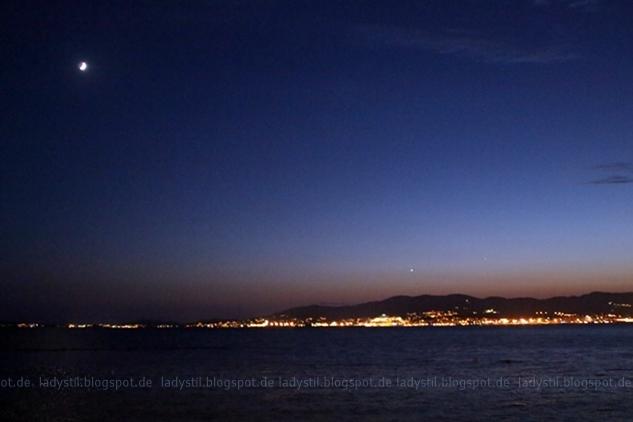 Blick auf die Bucht von Palma bei NAcht