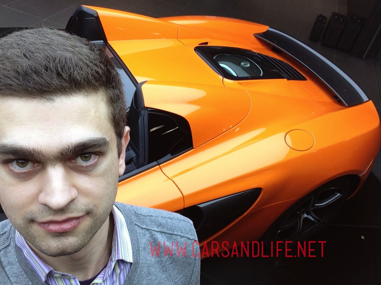 Selfie with a McLaren 650S