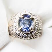 Cincin Batu Permata  Blue Sapphire Ceylon - SP680