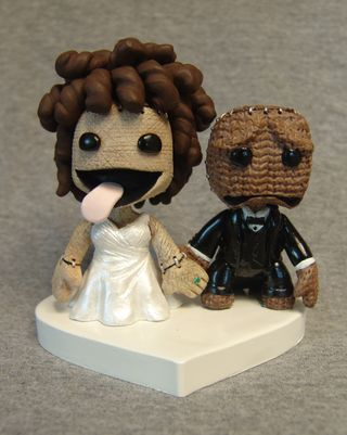 micheal jackson fan wedding cake topper