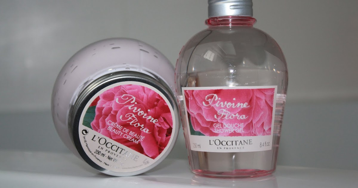 l 39 occitane pivoine flora gel douche et creme corps les fleurs fraiches volont kleo beaut. Black Bedroom Furniture Sets. Home Design Ideas