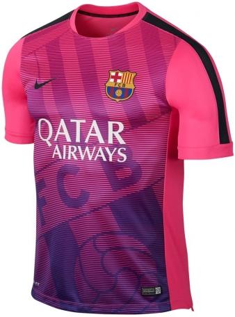 berita gambar jersey premtach barcelon awarna pink terbaru musim depan kualitas grade ori made inthailand