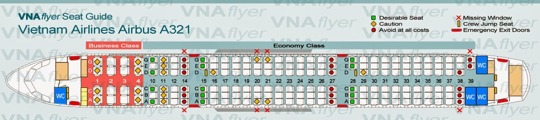 VNAFlyer VNAs Airbus A321 The Most Accurate Seat Map Available - Us Airways A321 Seat Map