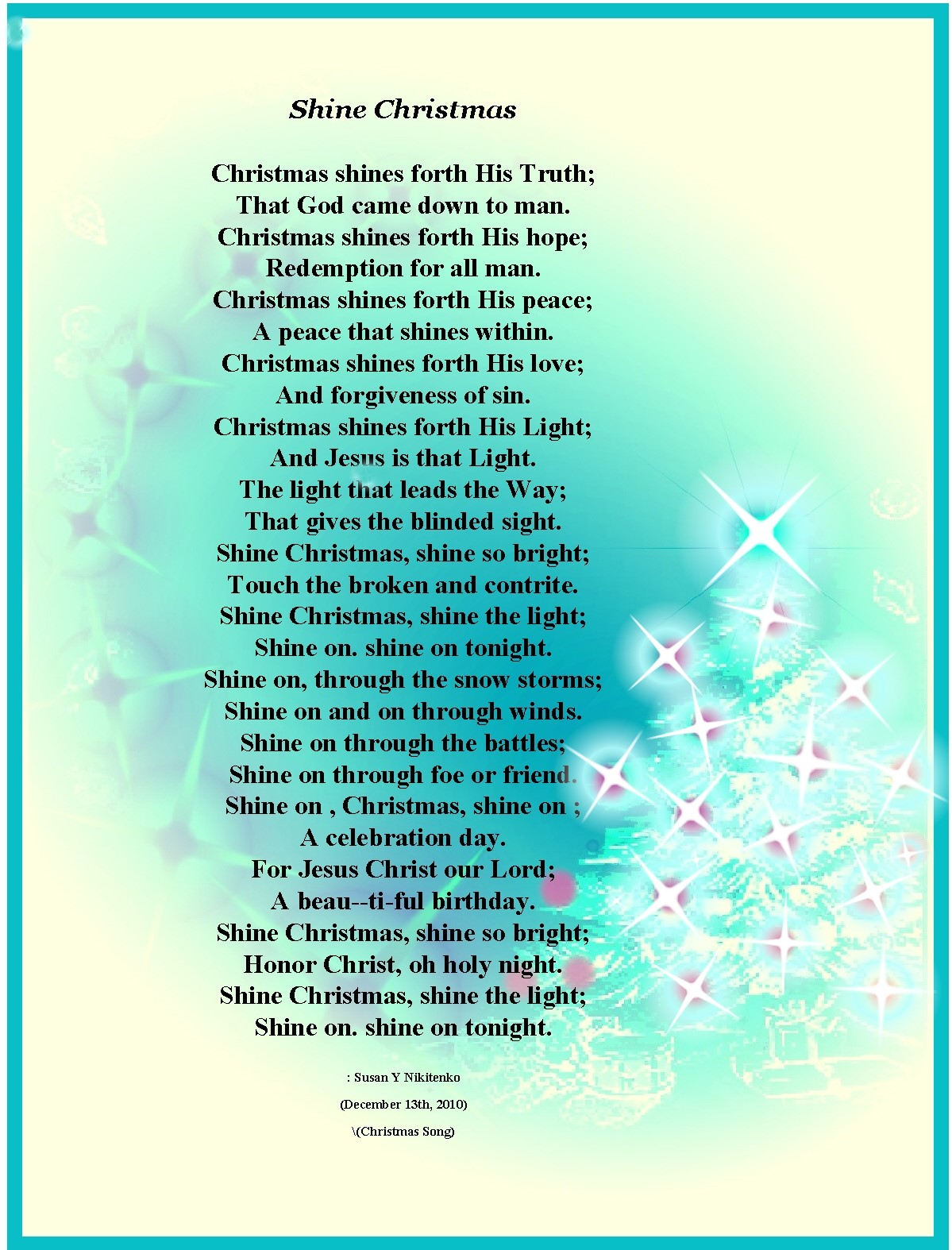 Christian Images In My Treasure Box: Christmas Poem Posters - Updated ...
