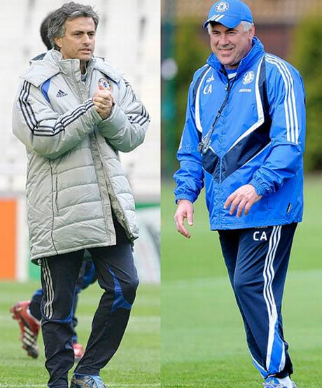 Carlo Ancelotti and Jose Mourinho