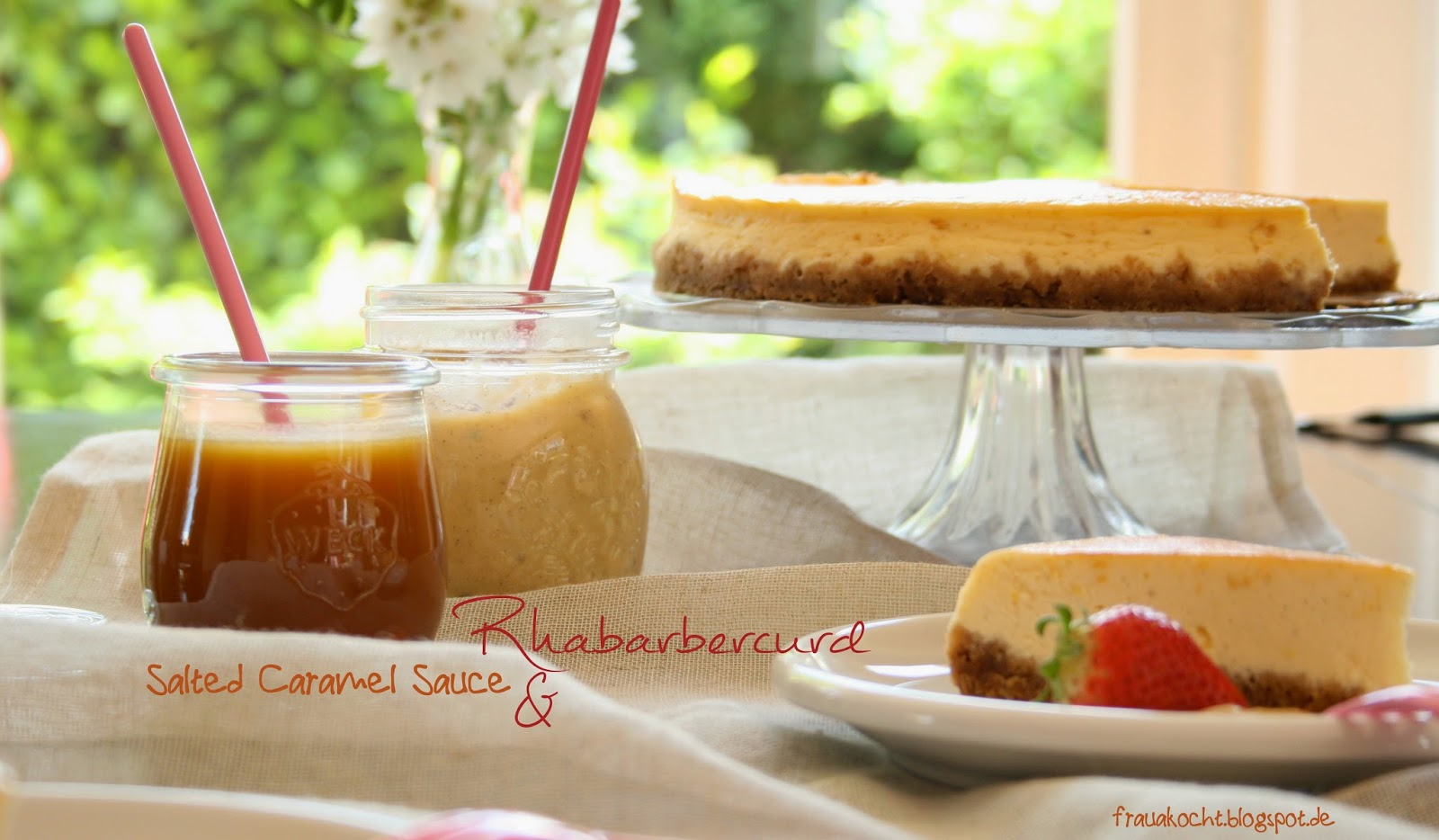 Frau A. kocht : Rhabarber trifft Cheesecake und Caramel