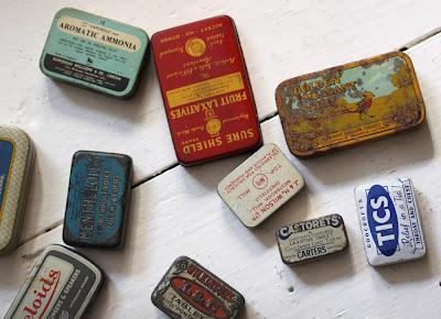 antique tins
