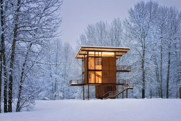 Modern Industrial Woodland Cabin