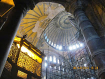Interior of the Hagia Sophia, Christendom's highest architectural achievement for 1000 years