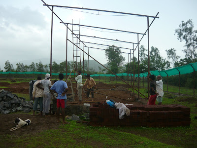 setting up of animal shelter in karjat by terra anima trust for animal welfare