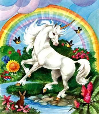 unicorn waving good bye