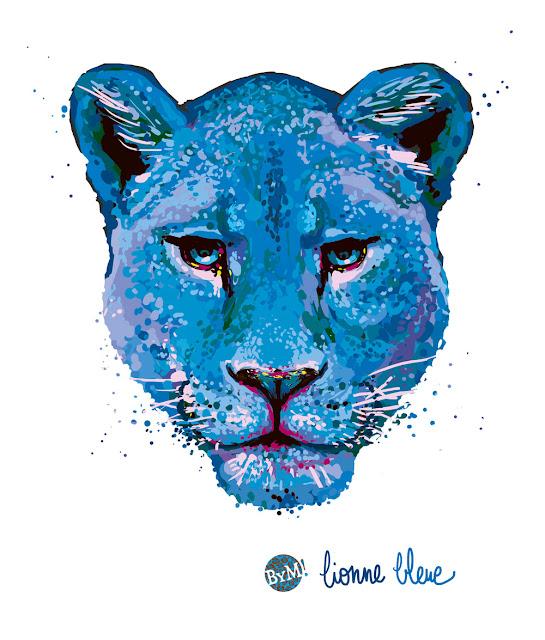 Lionne bleu - BYM 2016